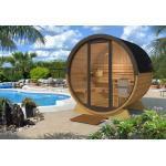 Inmedias Res Sauna Extérieur Tonneau en Bois et Verre 2/3 Personnes 200 cm - Pool - EO160PL