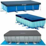 Intex Bâche de protection pour piscine Intex tubulaire rectangulaire Modèle - Piscine rectangulaire 9,75 x 4,88m