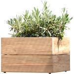 Jan kurtz - Pot de fleur minigarden 25 x 40 cm, bois de teck naturel