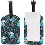 Jeansame Étiquette de bagage pour valise Motif licornes arc-en-ciel