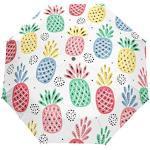 Jeansame - Parapluie pliable et compact - Motif ananas - Automatique, Parapluie de Pluie - Pour femme, homme, enfant, garçon, fille