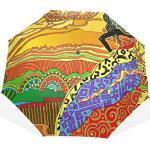 Jeansame Vintage Ethnique Femmes Mandala Pliable Compact Parapluie Soleil Pluie Manuel parapluies pour Femmes Hommes Enfants Garçon Fille
