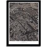 K.Olin Tribu - Affiche Berlin par Luis Dilger, Papier, Blanc, 40 x 60 x 0.1 cm