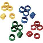 Kerbl Set de 4 x 25 Bagues d'Identification pour Élevage/Agriculture Couleur Assortis 16 mm