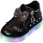 Chaussures noires lumineuses look casual pour fille