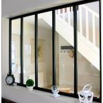 Kit verrière intérieure avec vitrage - 5 panneaux - 108 x 153,2 cm - noir Kit Atelier
