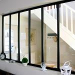 Kit verrière intérieure avec vitrage - 6 panneaux - 108 x 183,2 cm - noir Kit Atelier