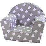 KNORRTOYS.COM Knorrtoys 68341-Kindersessel-Stars White Fauteuil pour Enfant