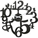 Koziol - Horloge murale [pi:p], noir