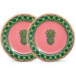 La DoubleJ - Ensemble de deux assiettes à dessert en porcelaine