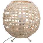 Lampe boule Gaby , rotin H22 cm