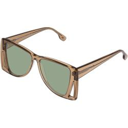 Le Specs Femmes Lunettes de soleil - LE ISOSCELES - LSL2001446 - 55mm - Vertes, Papillon