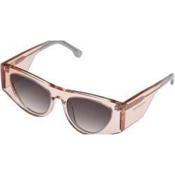 Le Specs Femmes Lunettes de soleil - PLANKTON - LSL2001460 - 54mm - Blanches, Cat-Eye