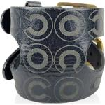 Leather Double Buckle Coco Adjustable Cuff Bracelet Chanel Vintage
