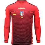 Maillots d'arbitre Legea rouges Fédération italienne de football pour homme