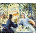 Legendarte - Tableau, Impression Sur Toile - Le Déjeuner Au Bord De La Rivière Pierre Auguste Renoir cm. 50x60