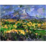Legendarte Tableau, Impression sur Toile - Mont Sainte-Victoire Paul Cézanne cm. 60x75