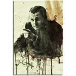Leonardo DiCaprio en costume dans Le Loup de Wall Street Film 90x 60cm Aquarelle Image en exemplaire unique Impression sur toile directement par l'artiste Paul Sinus Art