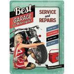 LifeStyle-Kreativ Enseigne en métal - Best Garage for Motorcycle - Plaque métal 30 x 40 cm