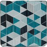 Linder Housse Cube 3D, Polyester, Bleu et Noir, 40x40 cm