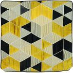 Linder Housse Cube 3D, Polyester, Jaune et Noir, 40x40 cm