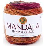 Lion Brand Yarn Company 528-211 Mandala Fil épais et rapide, montre de poche, une écheveau