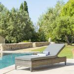 Lit de piscine Malta Terre d'ombre Jardin
