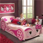 Lit voiture enfant rose LOVELY