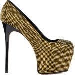 Chaussures Giuseppe Zanotti argentées en daim pour femme