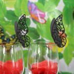 Décorations de table rouges à motif papillons