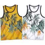 T-shirts à imprimés Atlas For Men jaunes lavable en machine pour homme