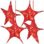 Lot de 4 étoiles de Noël pliables Ø 65 cm avec LED Britesta