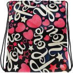 Love You Design Drawstring Sac. Combinez Votre Amour Pour Les Imprimés Vibrants Et Un Style Sportif Avec Sac À Cordon Cool