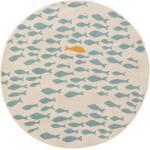 Lytte Tapis enfant Fabius Beige/Bleu diamètre 120 cm rond