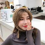 LYX Grenouille Laine Hat Etudiante Version coréenne de la Bande Mignon Chapeau Cheveux Femme Hiver Bonnet Coiffures Mignon (Color : Color-5)