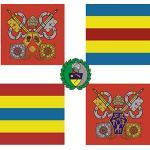 magFlags Drapeau XL Guardia Svizzera Bandiera   2005-2008 Flag of The Pontifical Swiss Guard of Vatican City   2005-2008-Fahne der Päpstlichen Schweizergarde   Stendardo dal 2005 al 2008 Della Gu