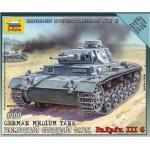 Maquette Char : Tank Panzer Iii Allemand-Zvezda