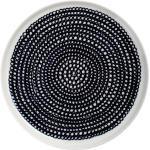 Marimekko - Oiva Räsymatto Assiette, Ø 20 cm, noir / blanc