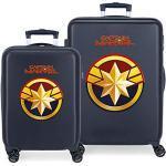 Marvel Avengers All Avengers Set de Bagages Bleu 55/68 cms Rigide ABS Serrure à combinaison 104L 4 roues doubles Bagage à main