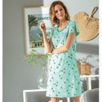 Vêtements Francoise Saget bleus oeko-tex à motif ananas éco-responsable à col rond pour femme