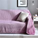 Meet Beauty Jeté de lit ou Jeté de Canapé Violet Clair, 200 x 360 cm Multifonction Couverture de Canapé en Peluche