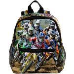 Mini Sac à Dos Moto Motocross Moto Enfants Et Garçons Voyage Sac À Dos Étanche Cartable Casual 25.4x10x30CM