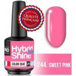 Mini Vernis Semi-Permanent Hybrid Shine 244 Sweet Pink Mollon Pro 8ml