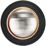 Miroir convexe noir et doré 38 cm