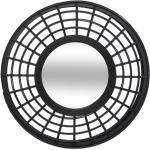 Miroir Relief noir, bambou D56 cm