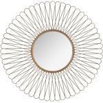 Miroir Soleil doré, métal D76 cm