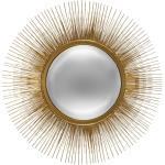 Miroir Soleil , métal doré D58 cm