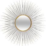 Miroir soleil, métal doré D75 cm