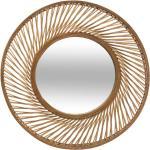 Miroir Spirale , bambou D72 cm