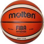 Molten Ballon de Basketball approuvé par la FIBA, Orange/Ivoire, Taille 6
